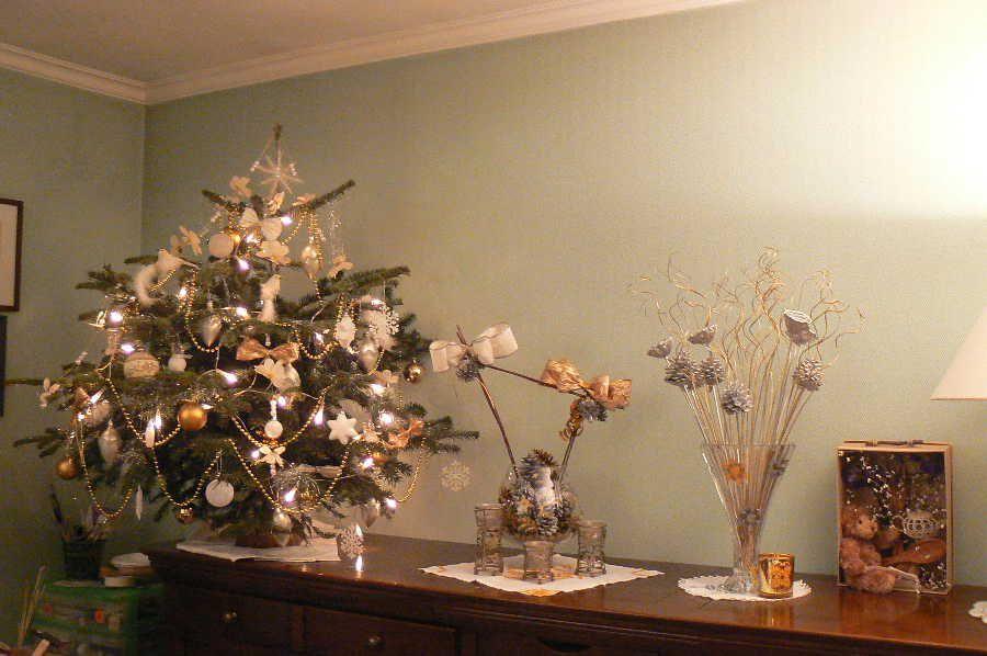 No l 2007 un no l en blanc or et argent for Sapin de noel decoration blanc argent