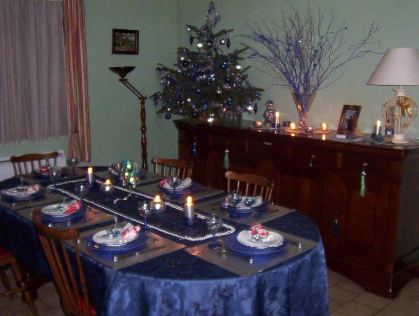 Decors de noel - Deco table noel bleu argent ...