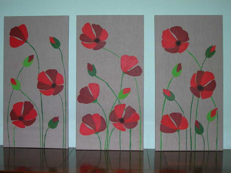 Tableau coquelicot home deco picture to pin on pinterest for Tuto home deco tableau